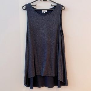 Seed - Oversized Singlet top with high/low hem